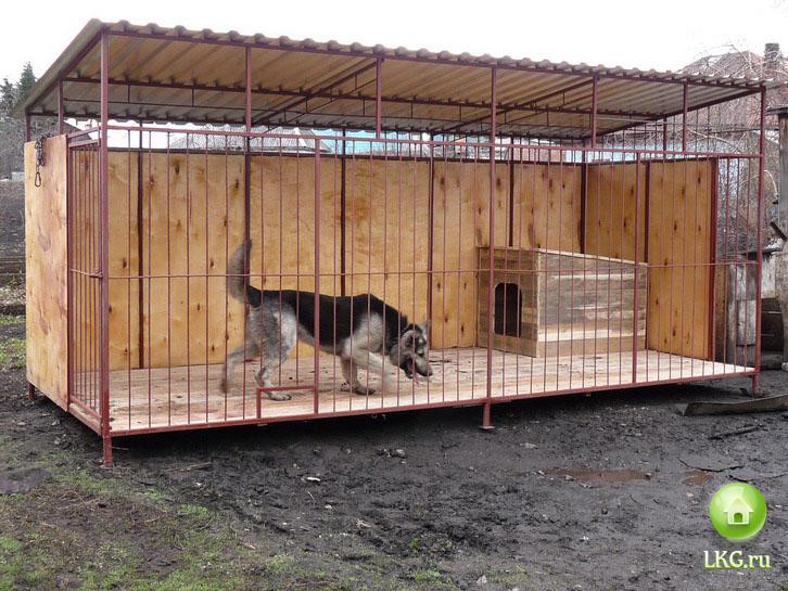 Собачьи будки и вольеры своими руками